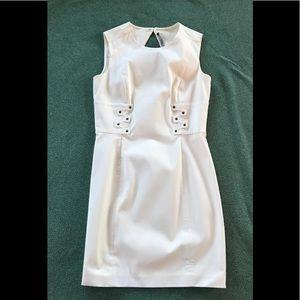 Off white body con dress